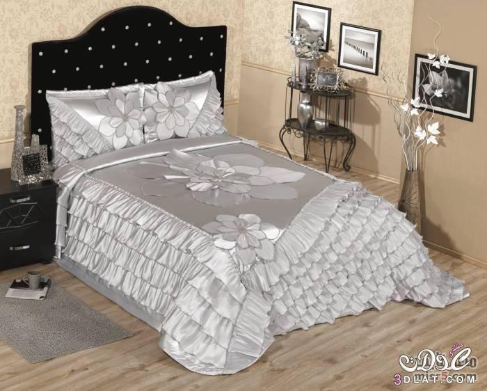 مفارش سرير للعرائس موديلات راقية وانيقة 700 X 562 43 Bedroom Decor Bedding And Bath Bed