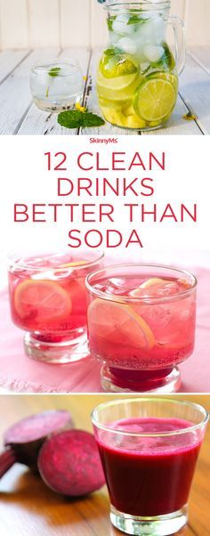 12 Clean Drinks Better than Soda