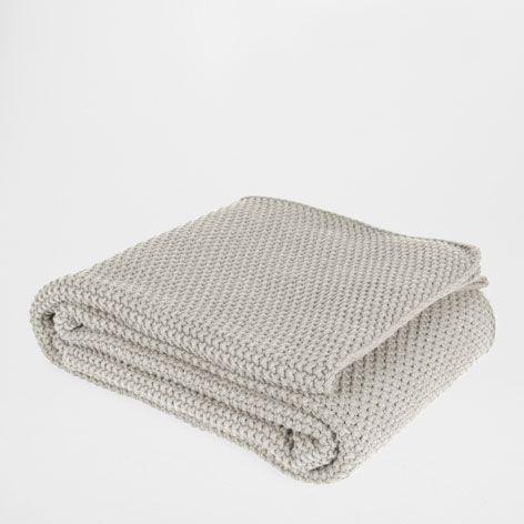 Manta punto algod n color vis n mantas cama zara for Zara home mantas