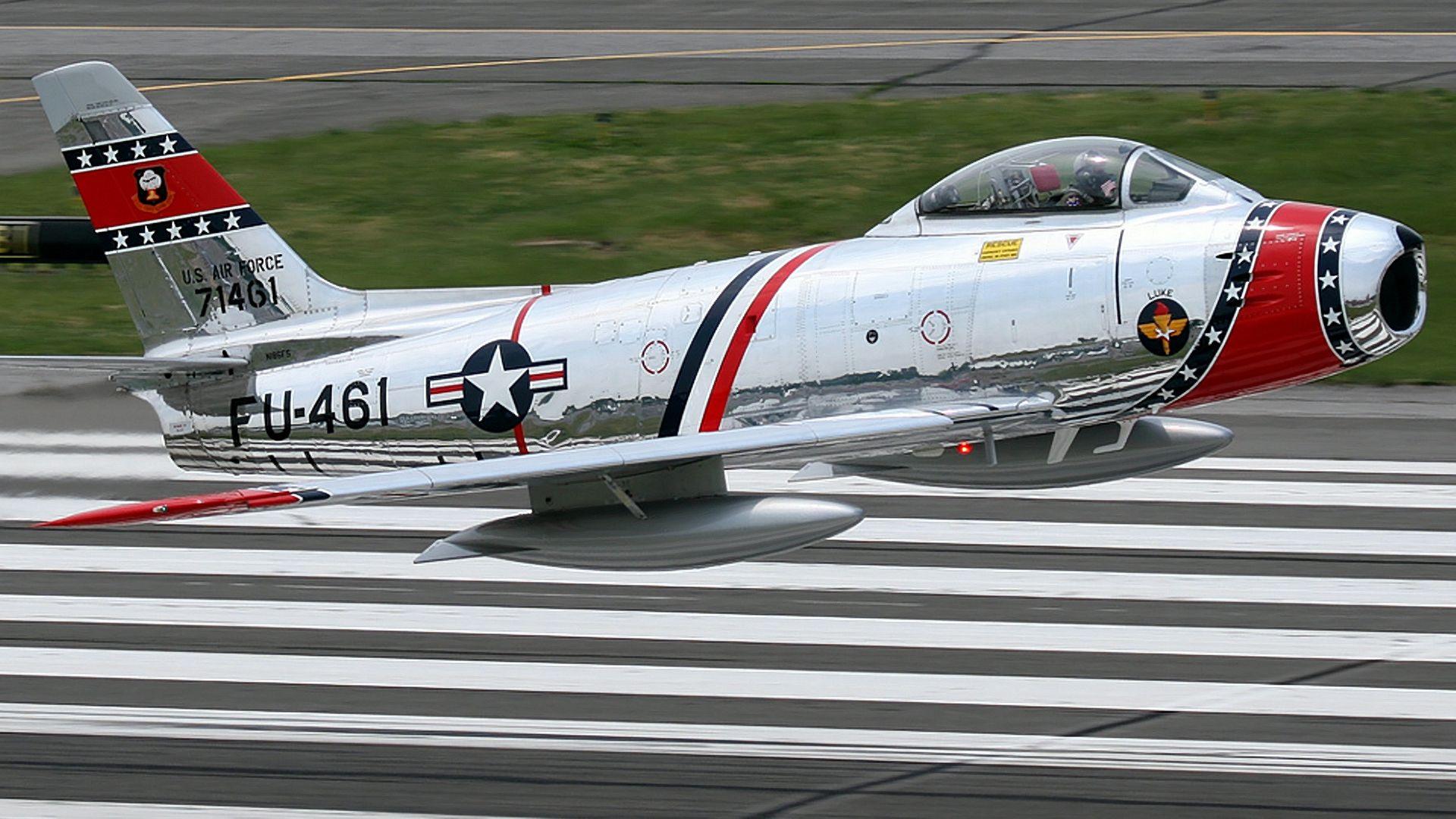 HD F-86 Sabre Wallpaper - Full HD 1920x1080 or 1920x1200