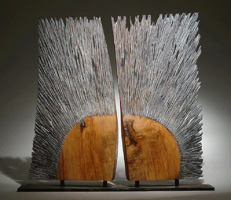 """Christophe Nancey ~ """" Le Baiser"""" ~ Wood Sculpture"""