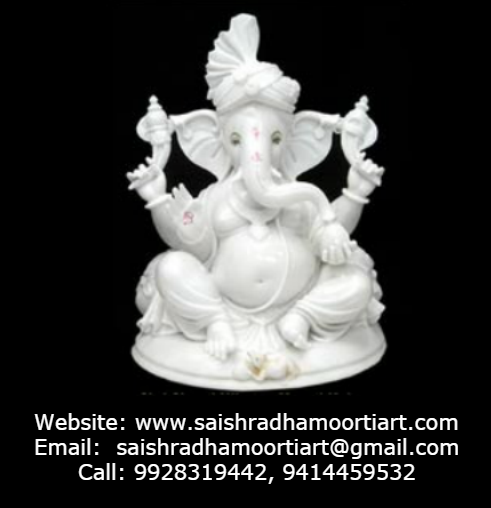 Ganesha Bless You Where We Manufacture Marble Decorative Items Statues With Your Design So What S Your Design Tell Us At W Statue Marble Statues Art