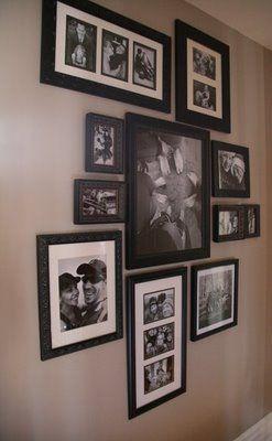 Petites Histoires Créatives: Un Mur De Cadres Cadre Photo Noir, Deco Cadre  Photo,