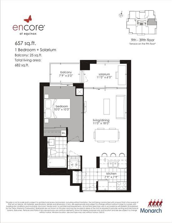 Encore At Equinox Plan 657 1 1br 657sqft Condowiz Floor Plans