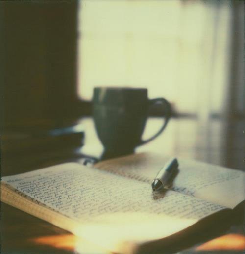 Coffee/tea and writing.