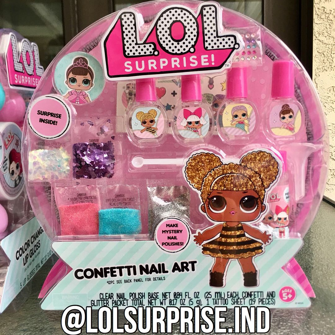 READY STOCK LOL Surprise Confetti Nail Art . . Price and order ...