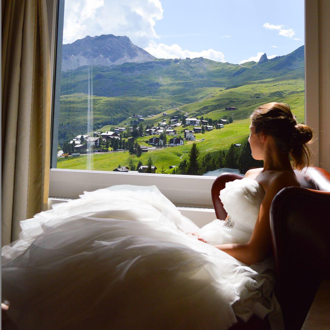 Saying I Do At Tschuggen Grand Hotel Arosa Weddingdress