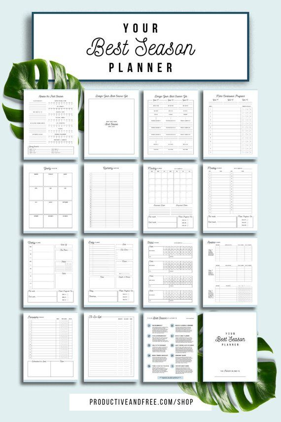 Your Best Season Planner Printable Planner Quarterly Monthly