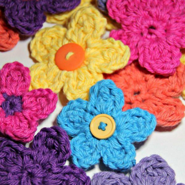 Treble Cluster Flower Crochet Flower Patterns Crochet Flowers And