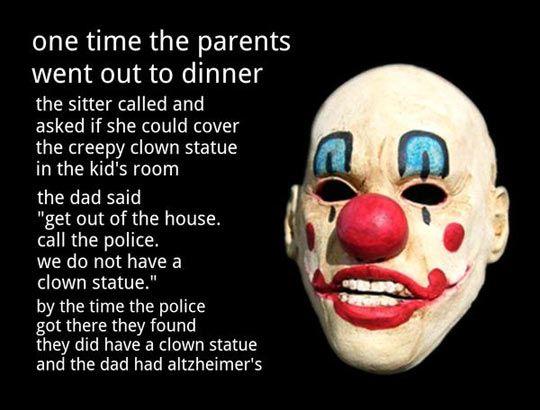 Creepy clown story… | Creepy clown