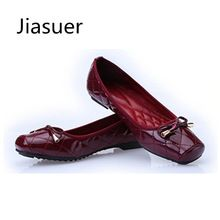 11df3b9b614b Jiasuer New Arrival Patent Leather Flat Women Ballet Flats Shoes Women Plus  Size 41 Black Square
