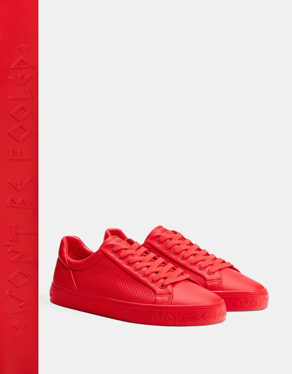zapatillas hombre rojas nike