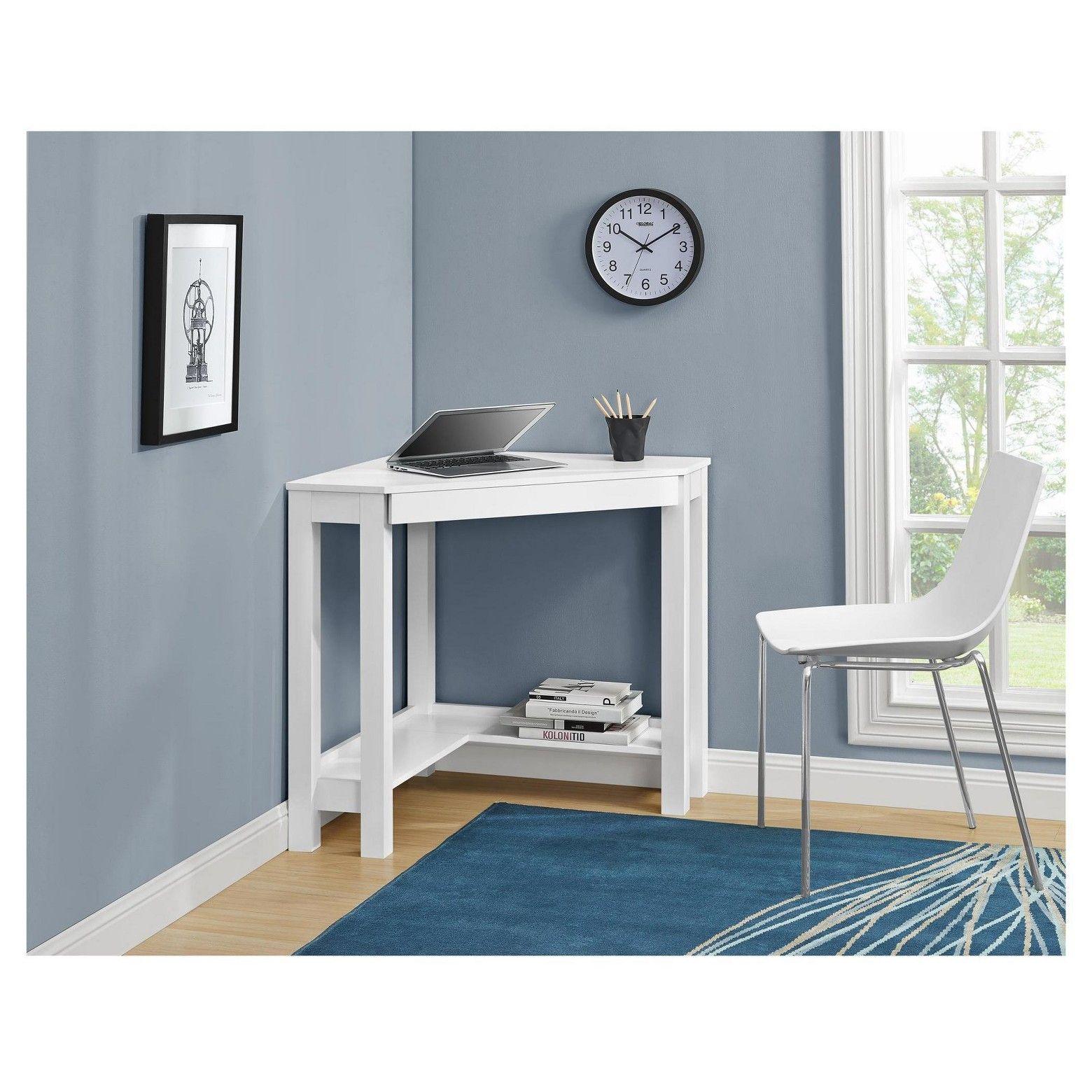 Corner desk white room joy white corner desk