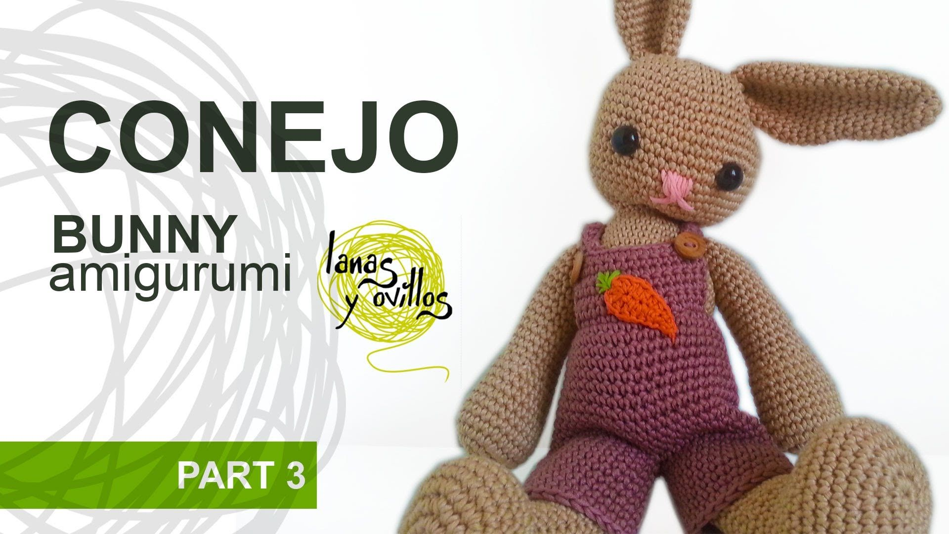 Tutorial Conejo Amigurumi español 3 videos | Crochet tutorial ...