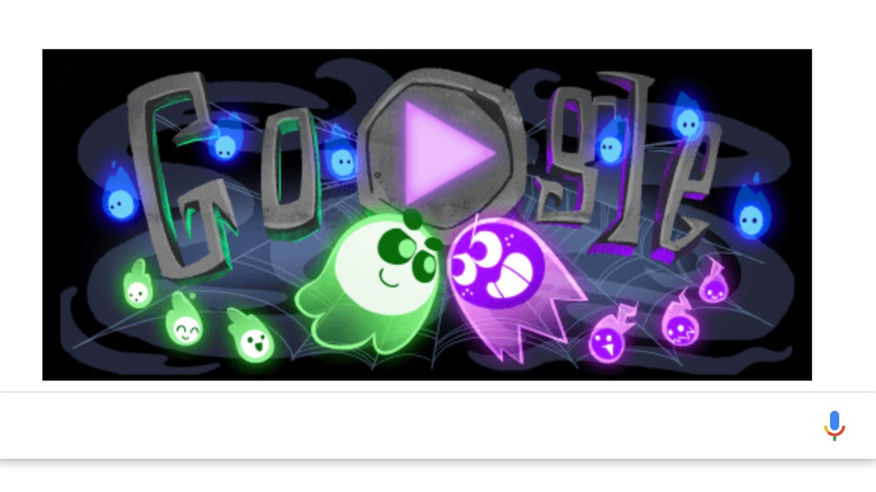 Great Ghost Duel How to play the Google Doodle