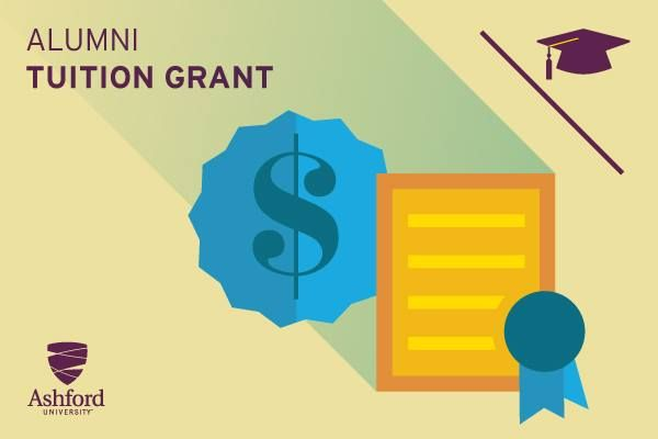 Alumni Tuition Grant - You may be qualified to apply this grant toward earning a second degree at Ashford. Learn more about the Alumni Tuition Grant here: http://bit.ly/TRYAJx