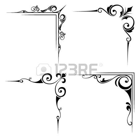 Stock Vector | Frosted glass door | Calligraphy borders, Frame