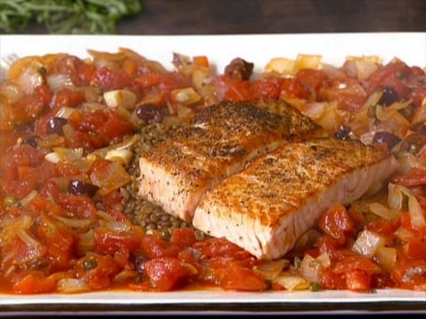 Lentil puttanesca with salmon recipe lentils salmon recipes and get lentil puttanesca with salmon recipe from food network forumfinder Choice Image