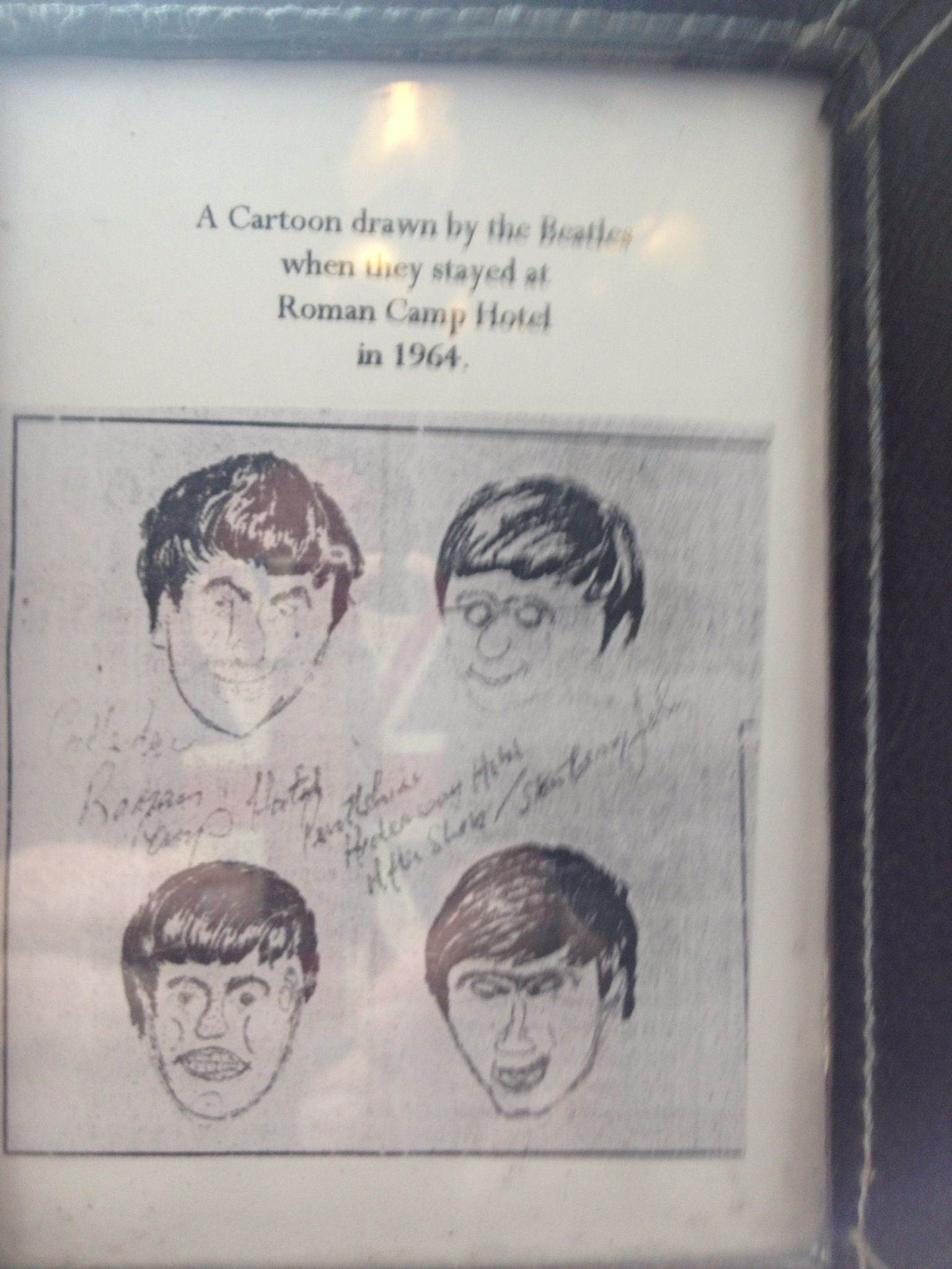 Beatles Own Self Portraits From 1964 Stay In Roman Camp Hotel Callander Scotland