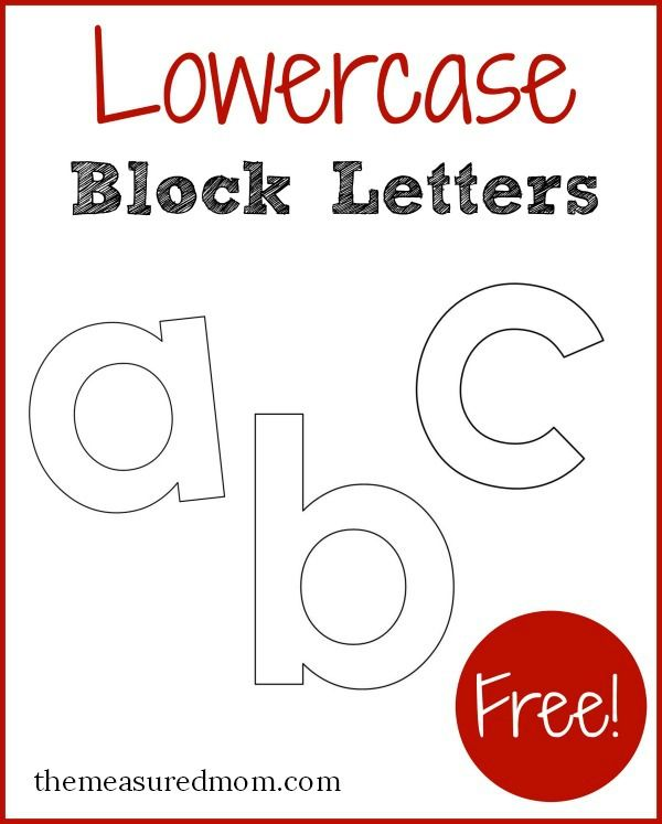 Free printable letters in lowercase block lettering printable free printable letters in lowercase the measured mom spiritdancerdesigns Gallery