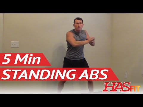 HASfit 5 Minute Standing Abs Workout - Standing Ab Exercises - Abdominal Exercise Standing Up