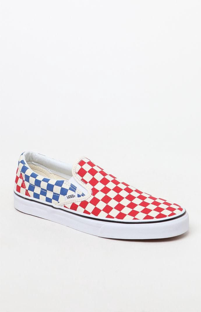 28989f63bf Vans Classic Checkerboard Slip-On Shoes - Mens 11