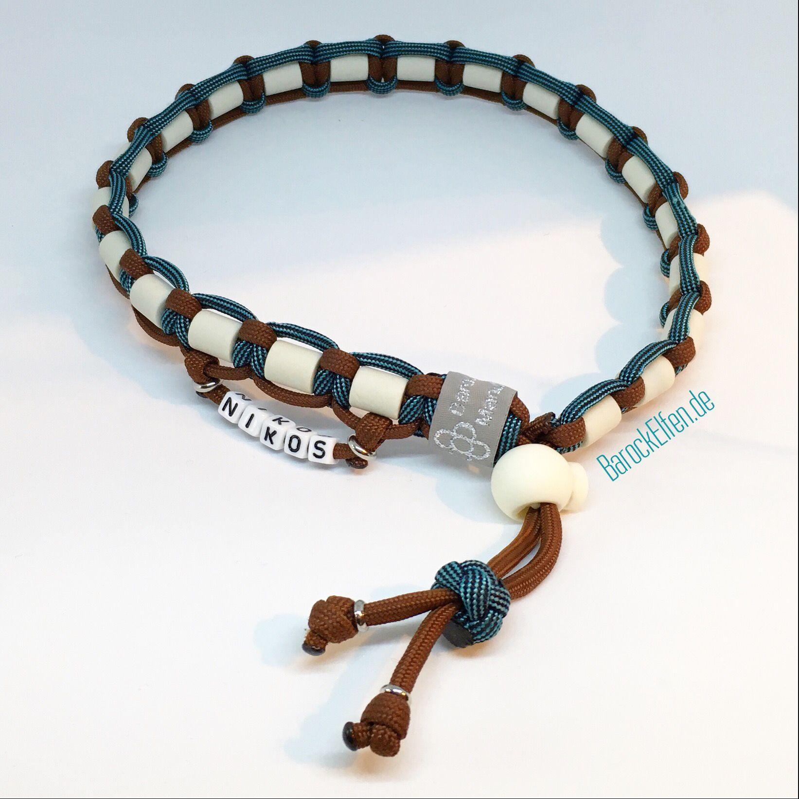 Em Keramik Halsband Mit Kordelstopper Em Keramik Halsband Halsband Paracord Halsband