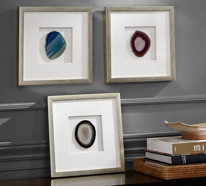 Framed Agate Shadow Box Pottery Barn Decor Unique Home Decor