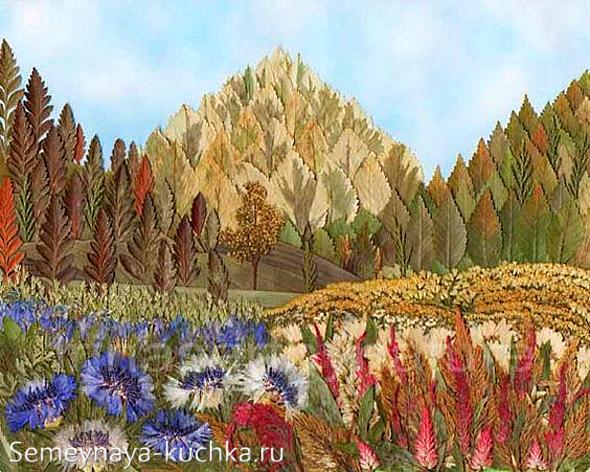 Картина из гербария 100 ПОДЕЛОК 68