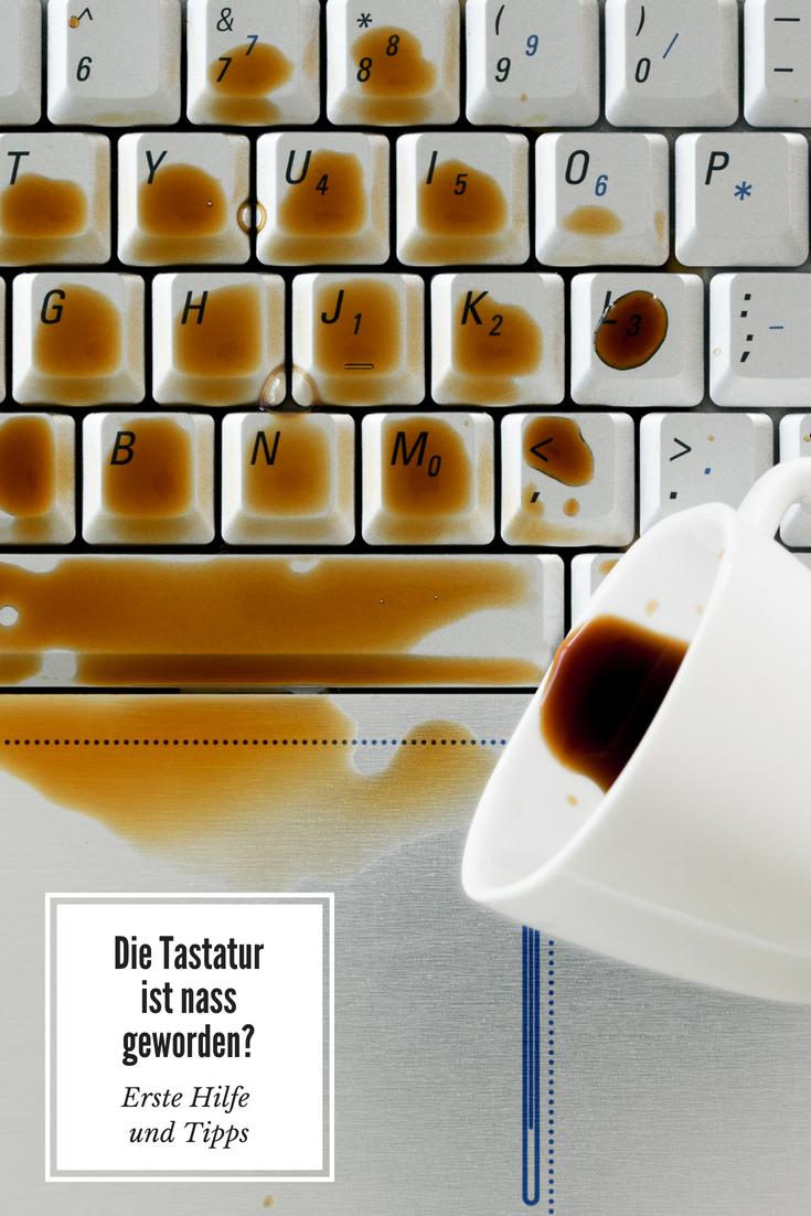 Kaffee über Tastatur