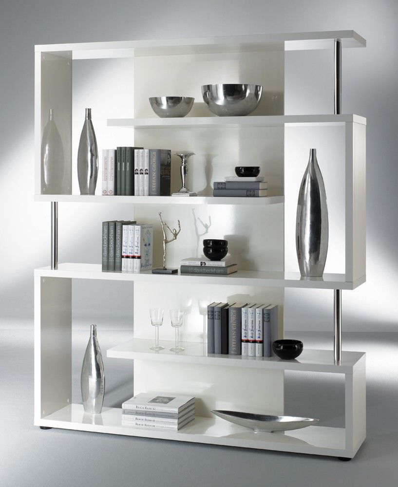 Schones Regal Day In Weiss Lackiert Pharao24 De Room Divider Shelves Shelves In Bedroom Home