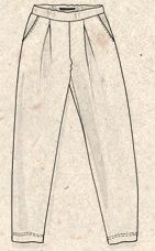 Velurbukse i økobomull/polyester – Bukser – GUDRUN SJÖDÉN – Kläder Online & Postorder