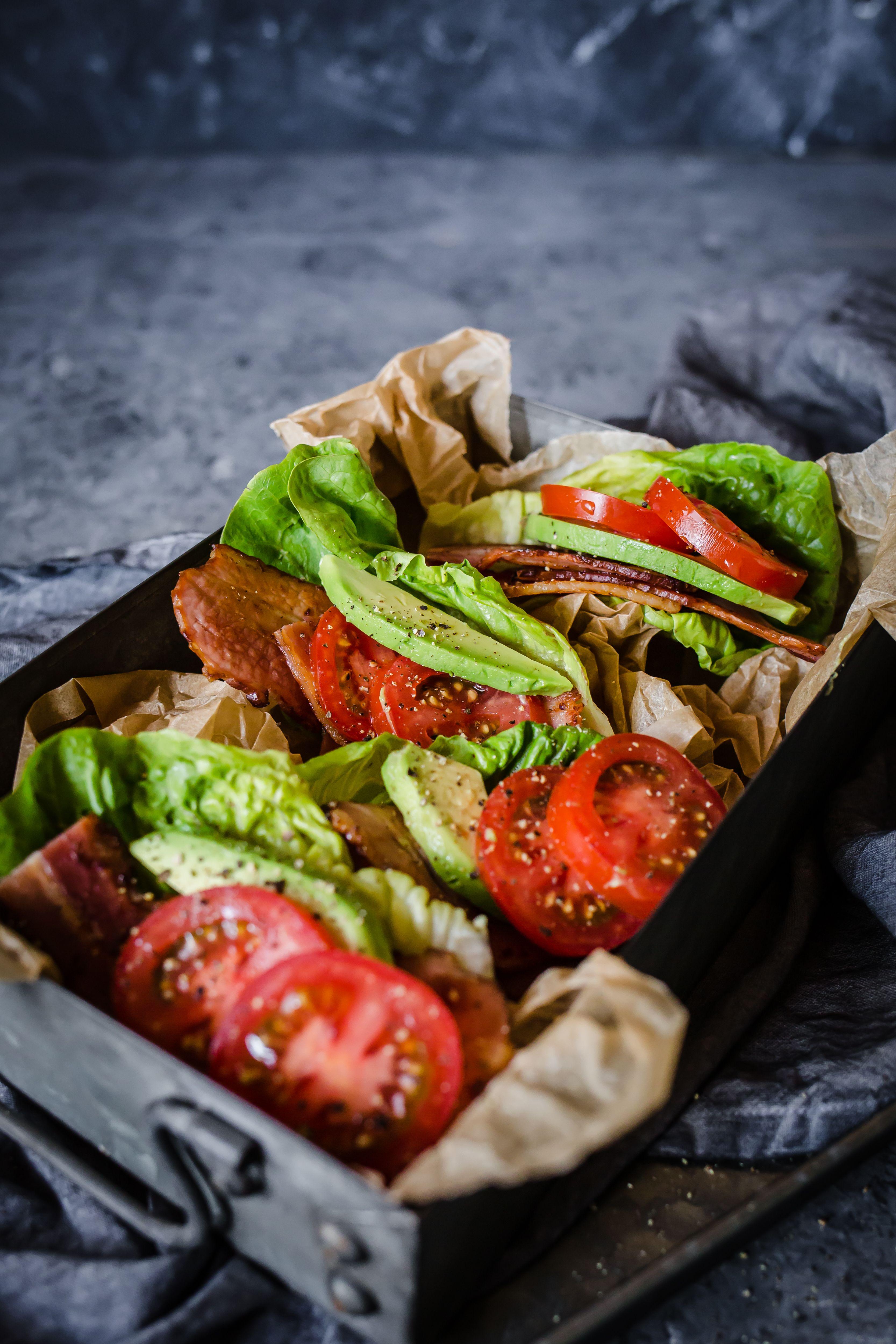 Keto Blta Lettuce Wraps Recipe Diet Doctor Recipe In 2020 Lettuce Wrap Recipes Diet Doctor Recipes Recipes