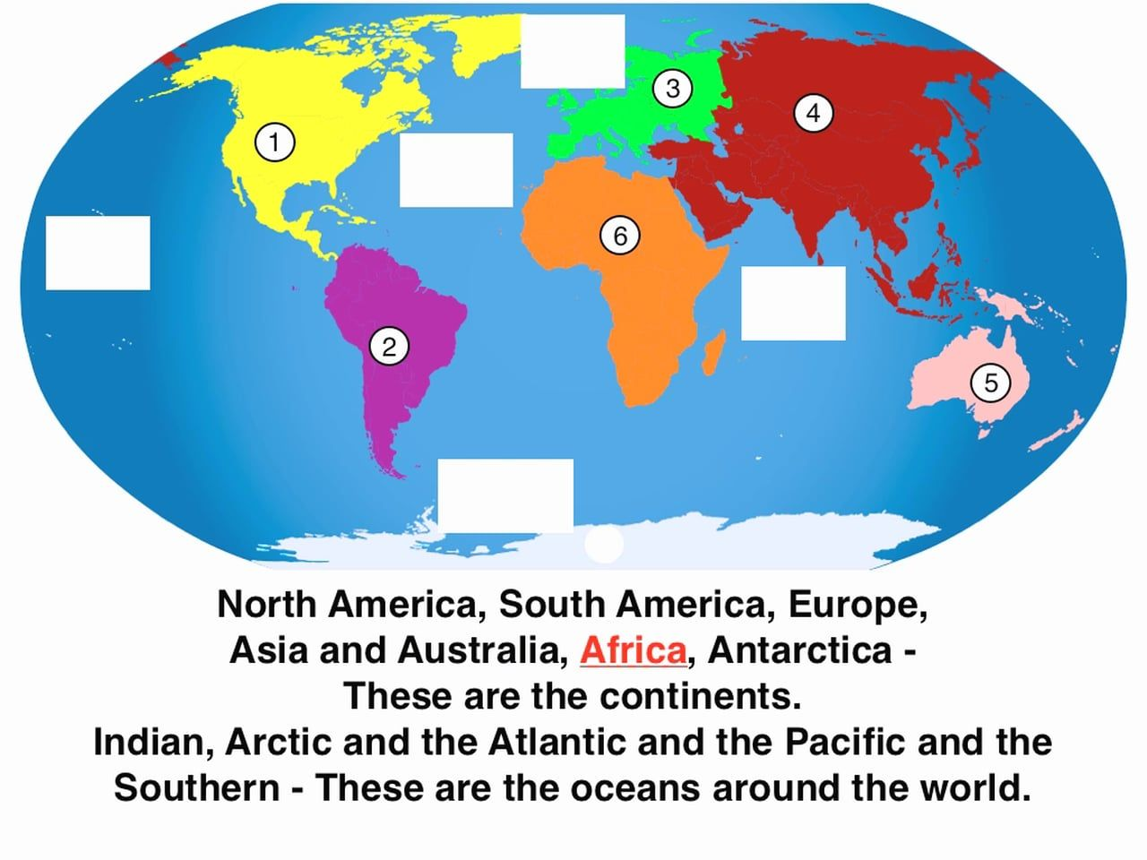 Best Collections Of Diagram World Map Continents And Oceans ...