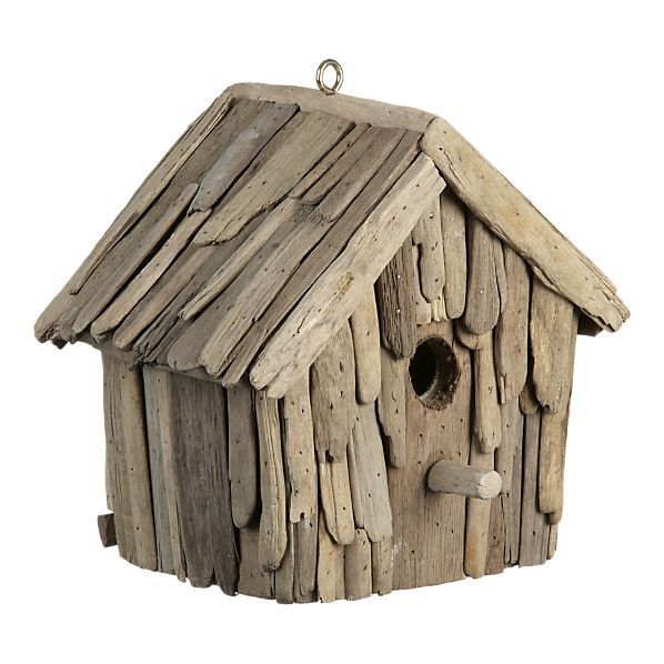 Driftwood Birdhouse by crateandbarrel #Birdhouse #crateandbarrel