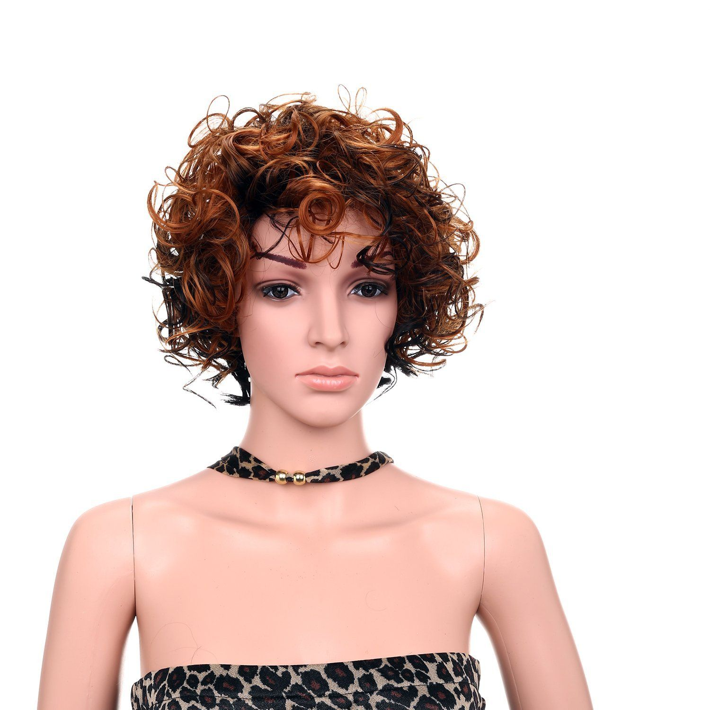 Favor Heat Resistant Full Head Wig Curly Cosplay Halloween