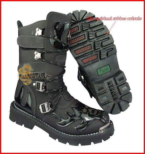 Gothic Combat Boots - Cr Boot