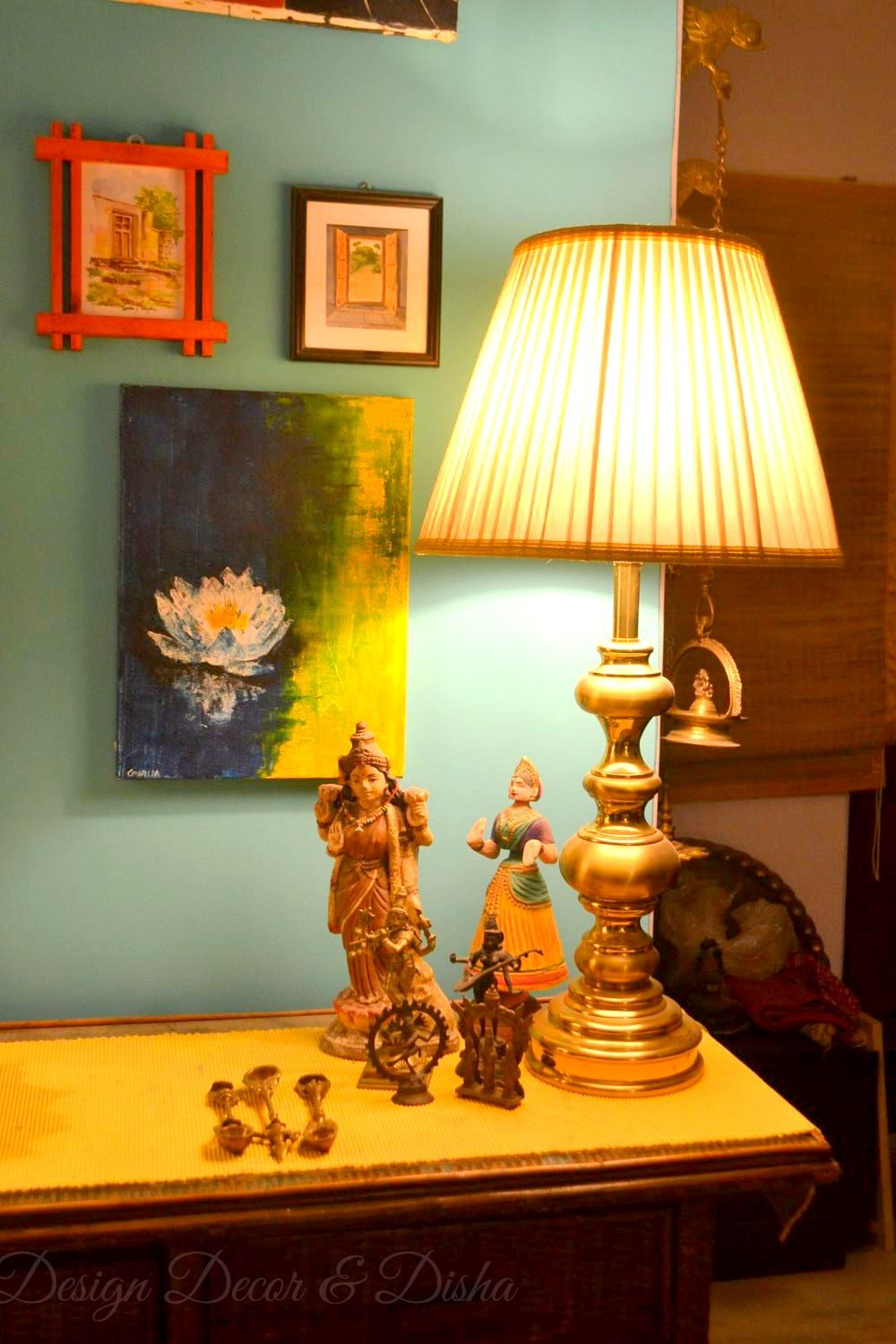 Ethnic indian home indian home home tour eclectic home for Indian foyer designs