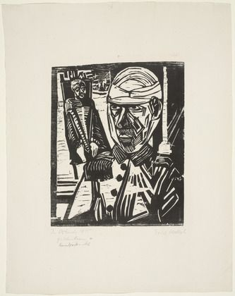 Erich Heckel (German, 1883–1970) Two Wounded Men (Zwei Verwundete)