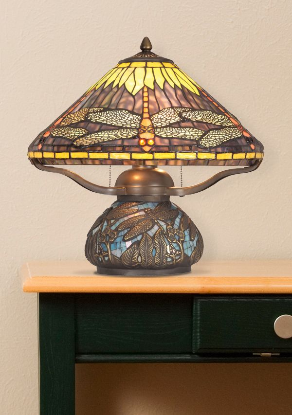 Rope Lights Menards Simple Tiffany Style Glass Atop This Antique Bronze Table Lamphttpwww Design Decoration