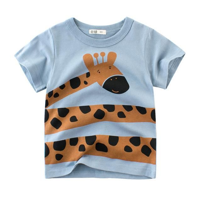 dd41682a2 Baby Summer Tees Cartoon Animal Print Monkey Lion Cotton Boy T Shirt  Outwear Brand Children's Clothing Kids Tops Girl T-shirts