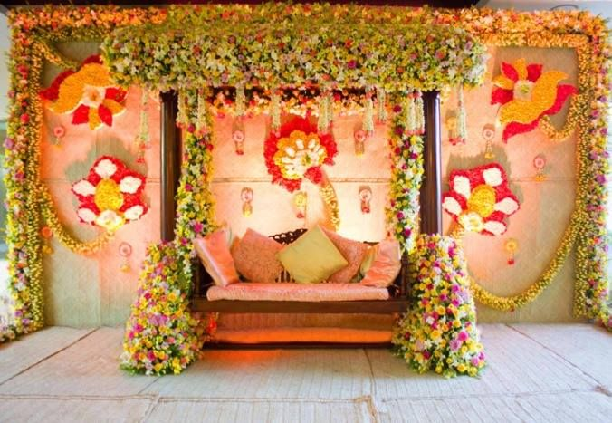 40 Ways To Decorate Your Wedding With Flower Walls Indian Baby Shower Decorations Modern Wedding Decor Flower Wall