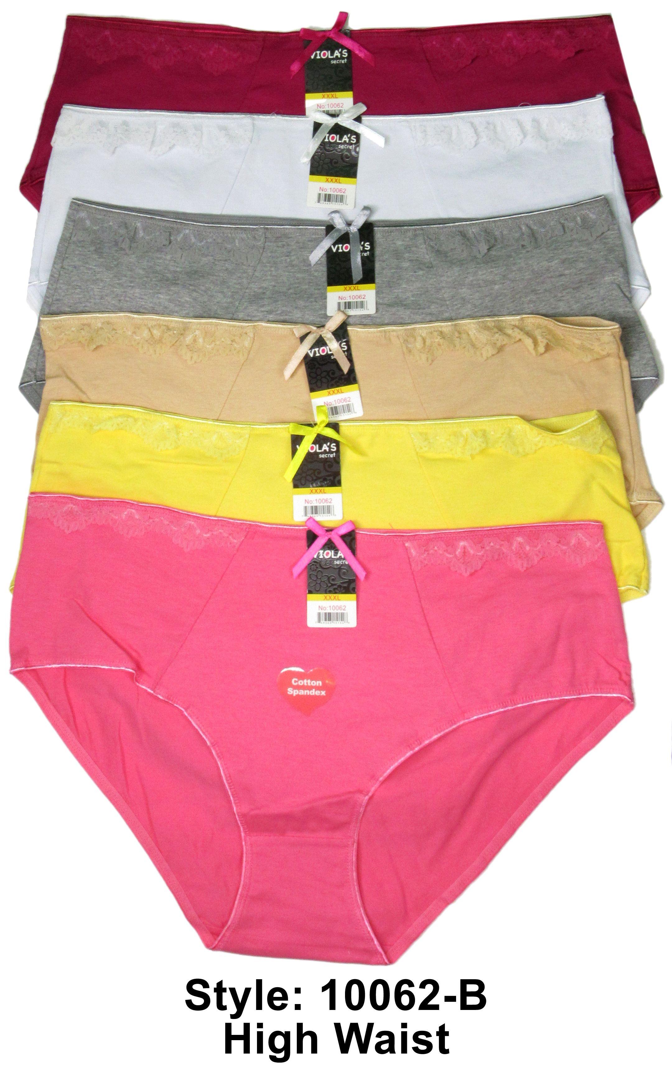 46ddb1358af 6 Women Plus Size High Waist Underwear Brief Panty Full Coverage ...
