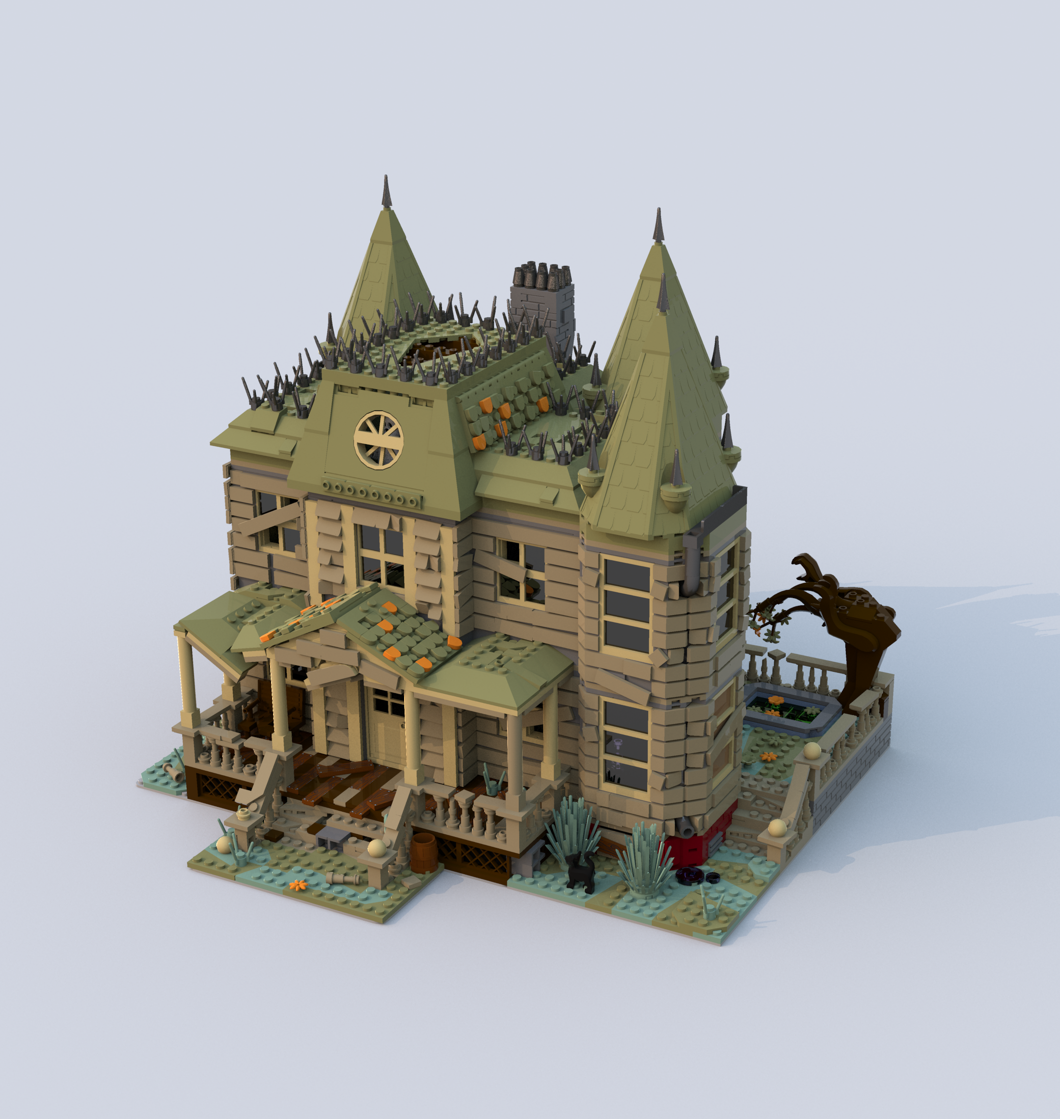 Modular Old House Lego Haunted House Lego House Lego Halloween