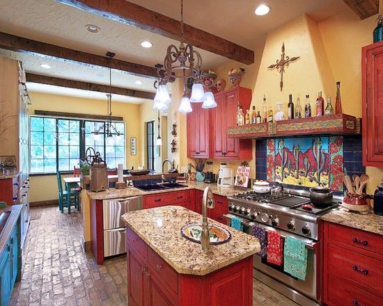 Superb Kitchen Rustic Kitchens Red Cabinets Design Pictures Home Interior And Landscaping Spoatsignezvosmurscom
