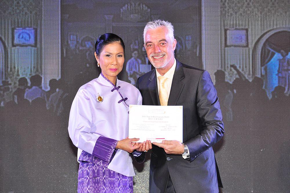 CHATRIUM HOTEL RIVERSIDE BANGKOK VOTED TOP 10 BEST LUXURY