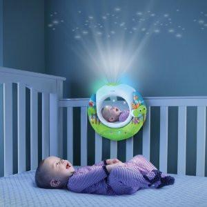 Baby Infant Newborn Soothing Lullaby Sound Sleep Music Player Projector Night Light Mirror Baby Night Light Baby Tech Crib Toys