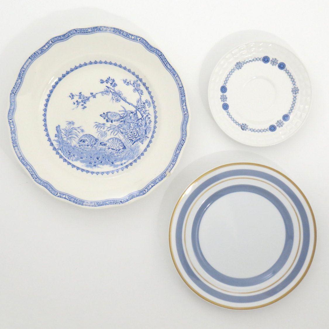 Decorative Plates Kitchen Wall Decor Shabby Chic Farmhouse ...