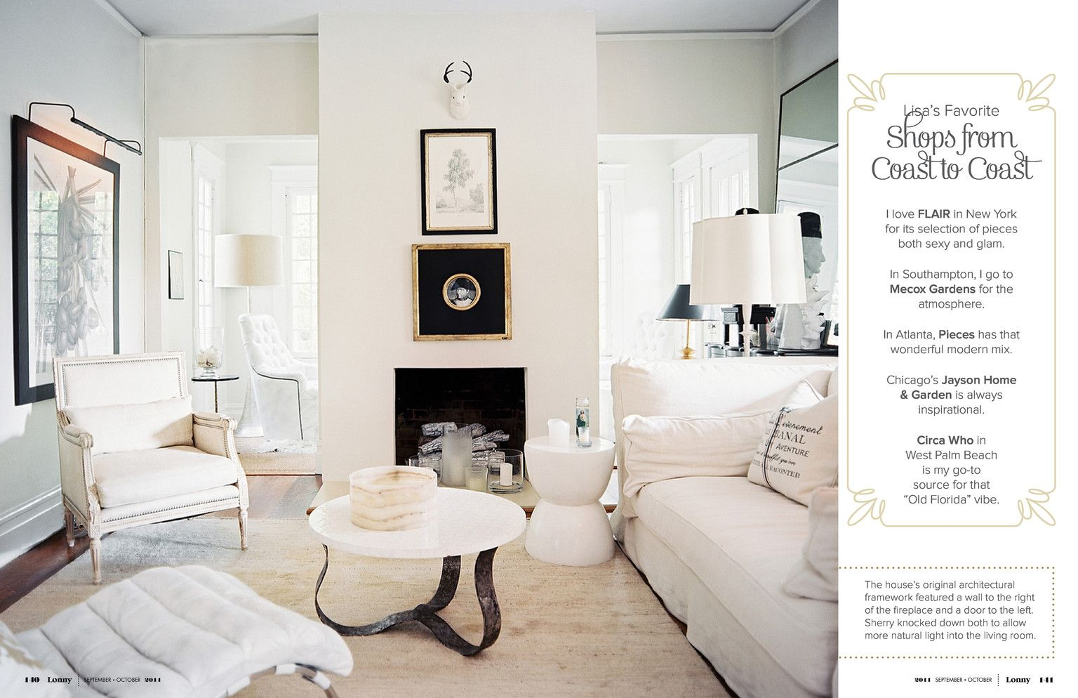 September / October 2011 | September, Living rooms and Small living ...
