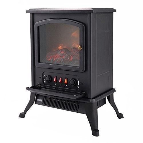 Electric Fireplace Heater Logs Electric Fireplace Logs Stove Quartz Adjustable #ElectricFireplaceHeater